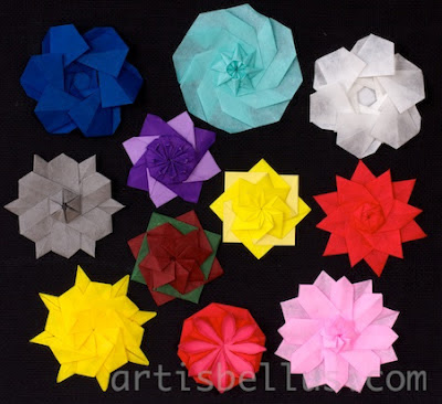 A Bouquet of Origami Rosettes