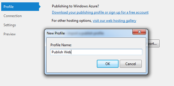 Profile Name in Publish wizard 2012