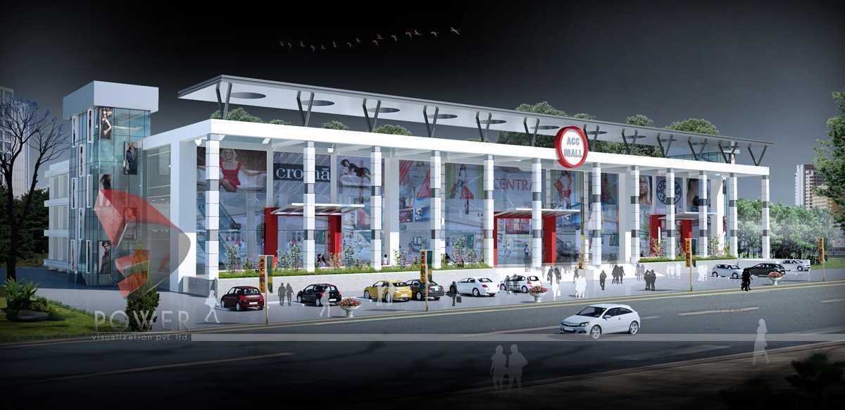 Malls multiplexes 3d design for Shopping mall exterior design