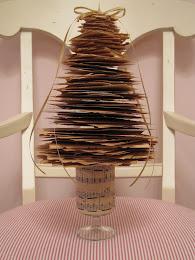 Shabby Vintage paper tree