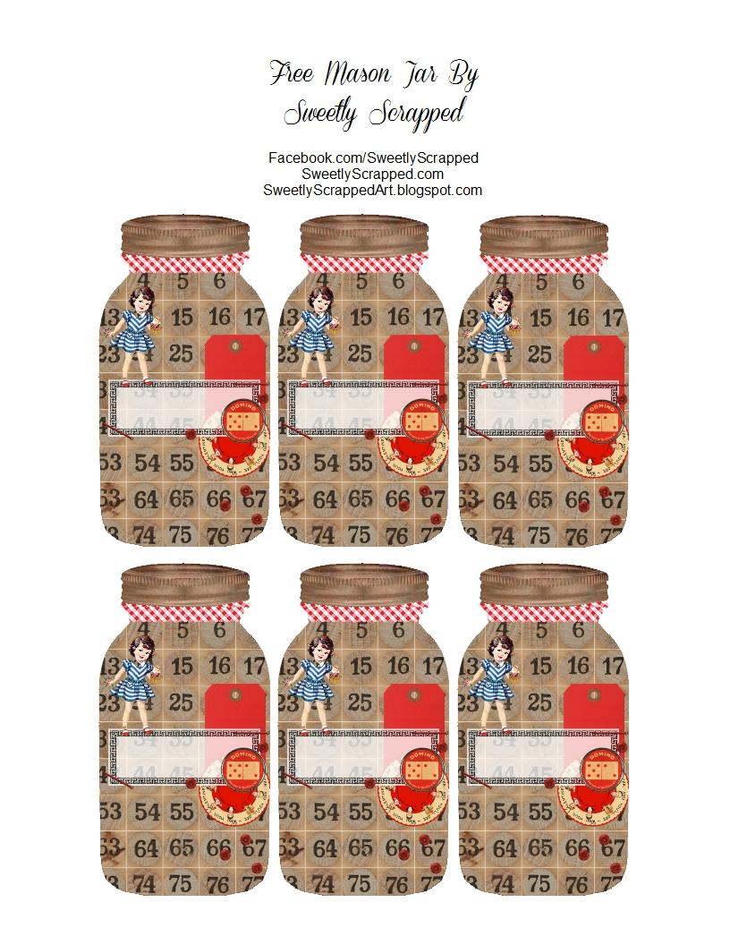 Striking image intended for printable mason jar tags