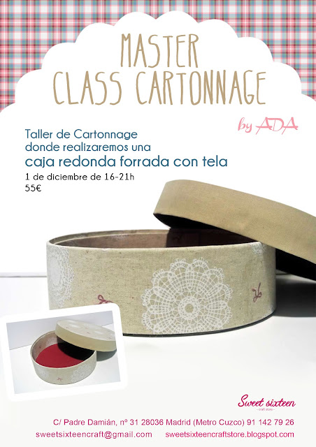 Master Class Cartonnage by Ada en sweet sixteen
