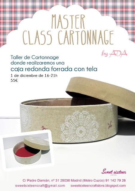 Master Class Cartonnage by Ada en sweet sixteen