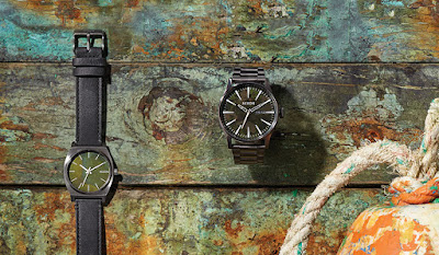 Relojes verde oxidados de Nixon