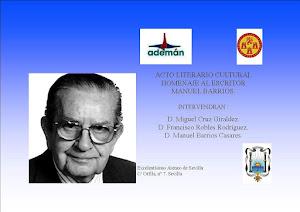 Acto de homenaje a Manuel Barrios