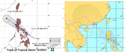 Pronóstico trayectoria tormenta tropical Rumbia, 29 de Junio 2013