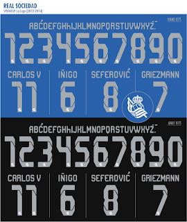 Real Sociedad 2013/14 kits font