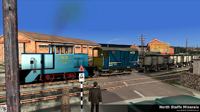 Fastline Simulation - North Staffs Minerals: Colliery Line crossing Brown Lees Road.