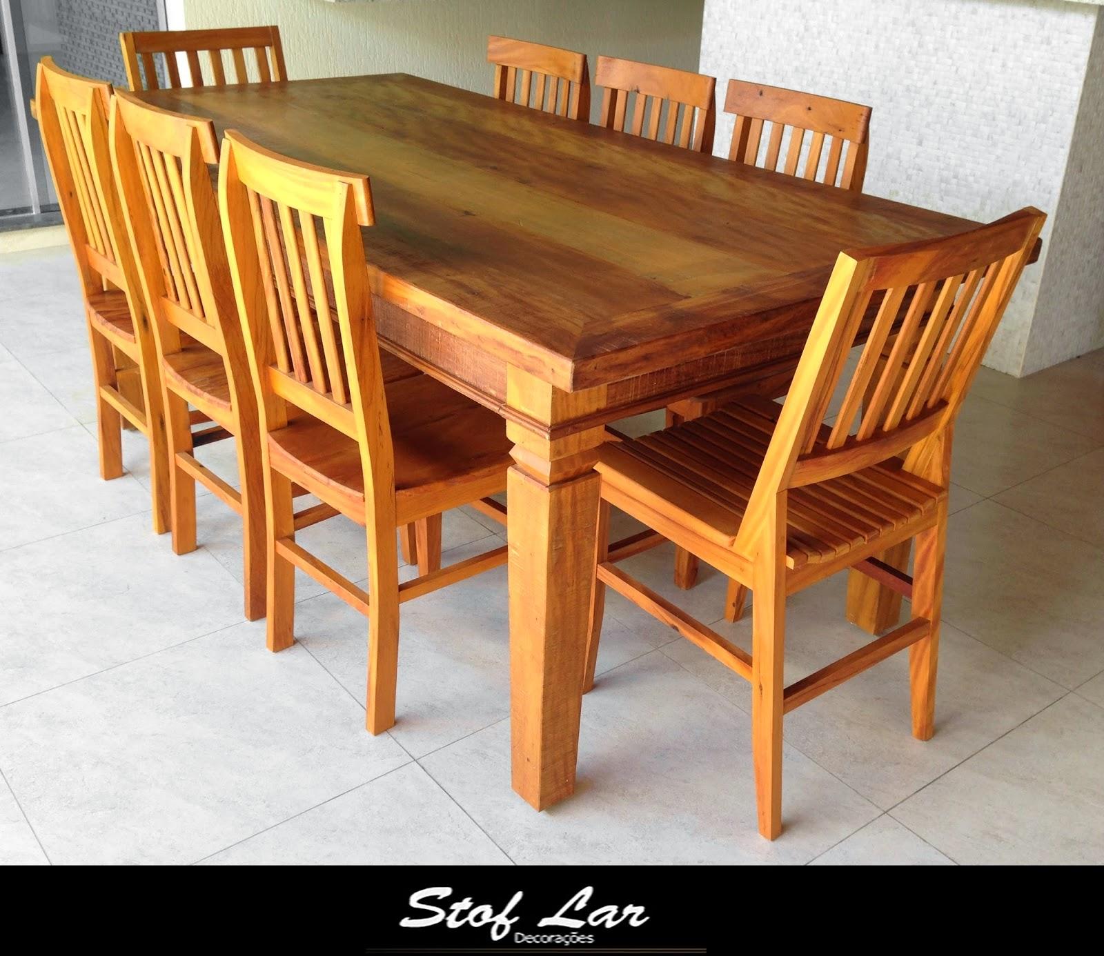 Móveis em Madeira de Demolição : Mesa Retangular   8 Cadeiras #C47B07 1600x1386