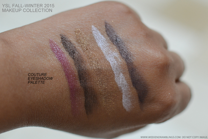 YSL Rebel Metal Couture Eyeshadow Palette Fall 2015 Makeup Collection Swatches