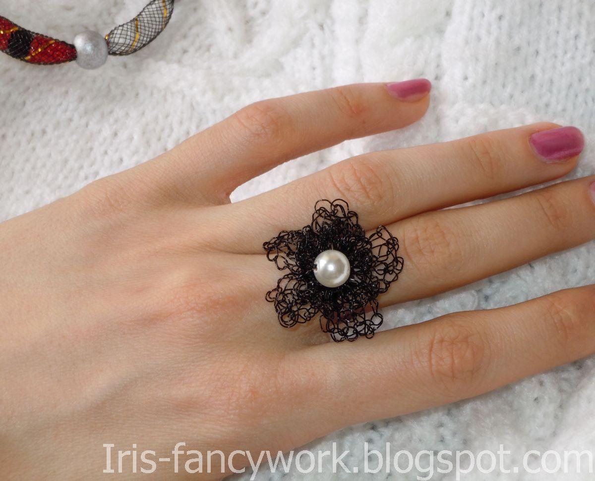 Кольцо цветок мастер класс