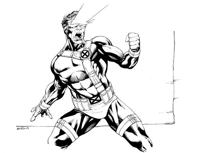 X Men Cyclops Drawings Robert Atkins Art: Sep...