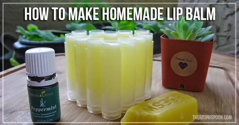 How to Make Lip Balm | therisingspoon.com