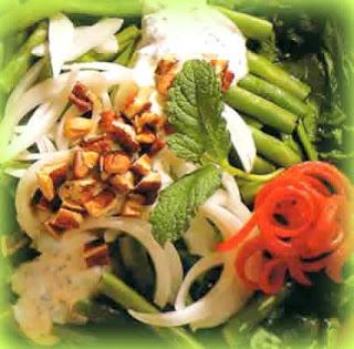 Ensalada de nueces y espinacas