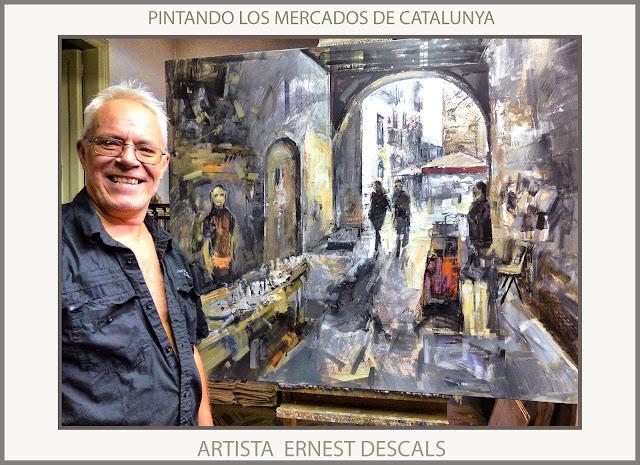 PINTURAS-MERCADOS-FESTA DE LA MEL-ARNES-TARRAGONA-CATALUNYA-MERCAT-PINTURA-CUADROS-MERCATS-ARTISTA-PINTOR-ERNEST DESCALS-