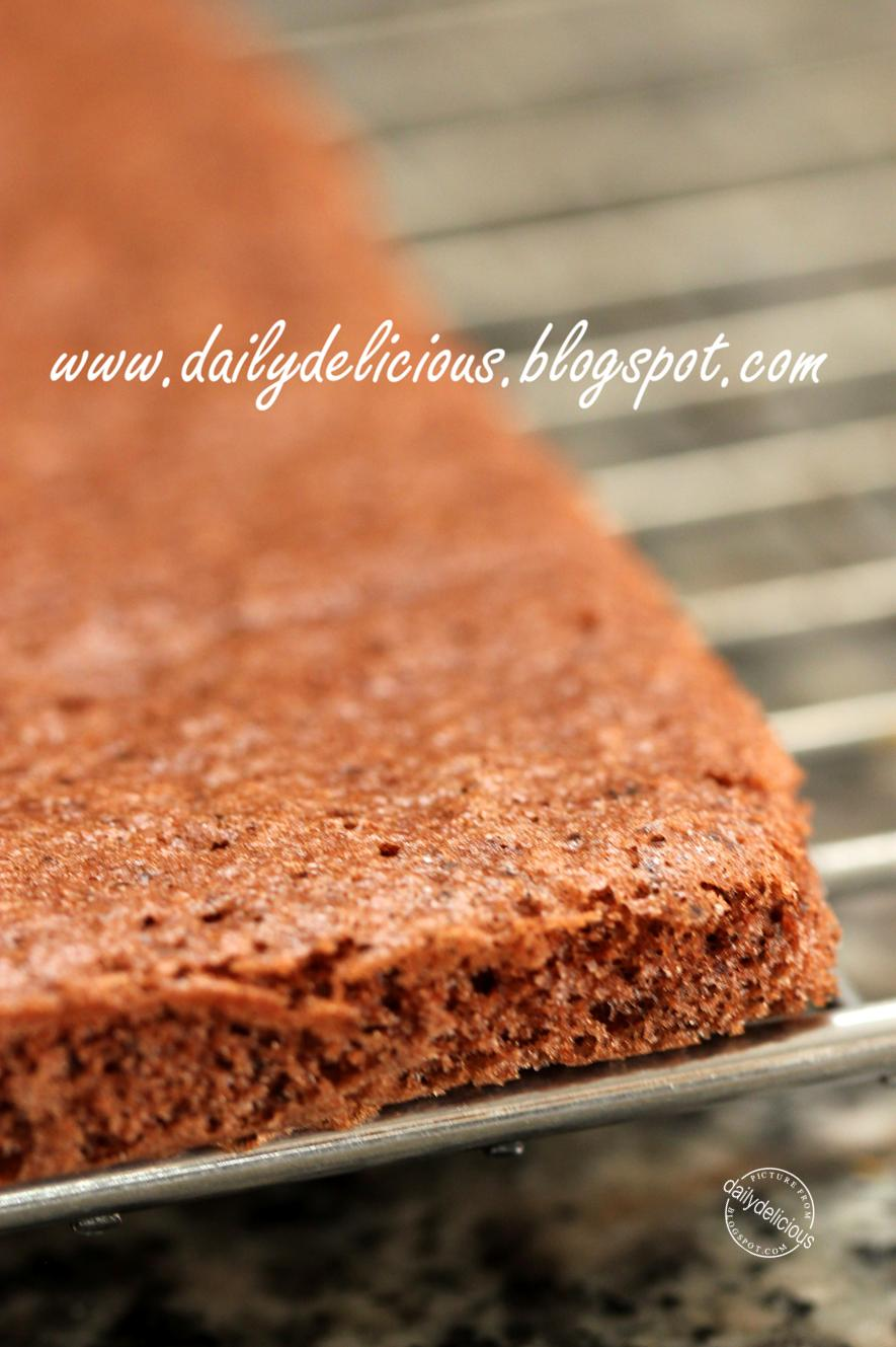Chocolate sponge cake recipe with egg