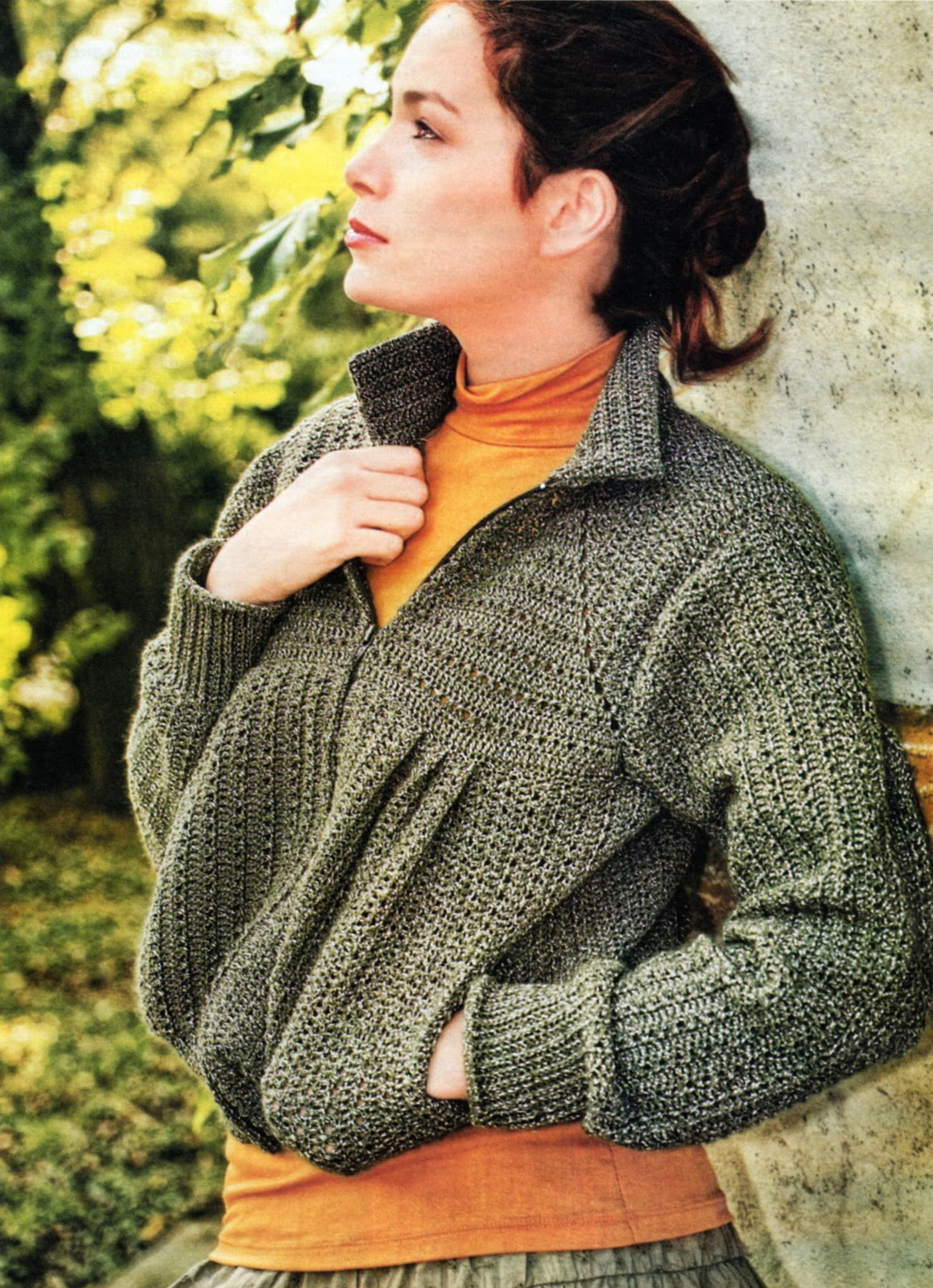 Вязание крючком куртка женская 82