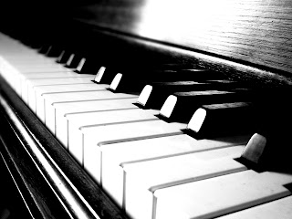 Piano Keyboard Close up Black and White HD Wallpaper
