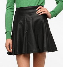 Sparkle & Fade Vegan Leather Skater Skirt