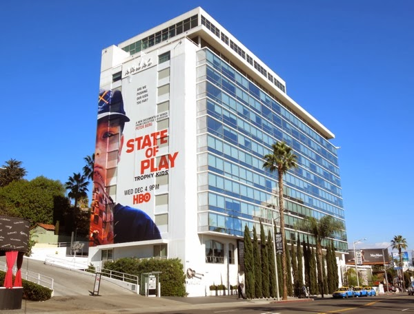 Giant State of Play HBO billboard Andaz Hotel