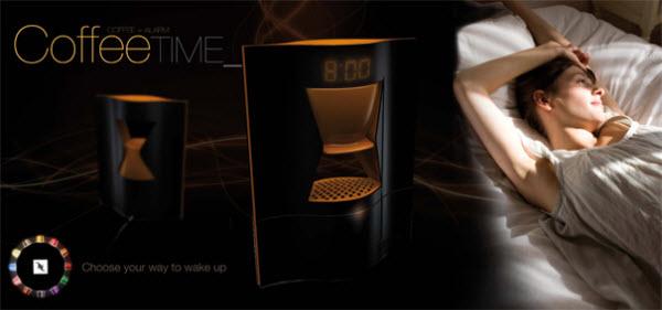 15 Jam Alarm Terunik di Dunia: Coffee Time Alarm Clock