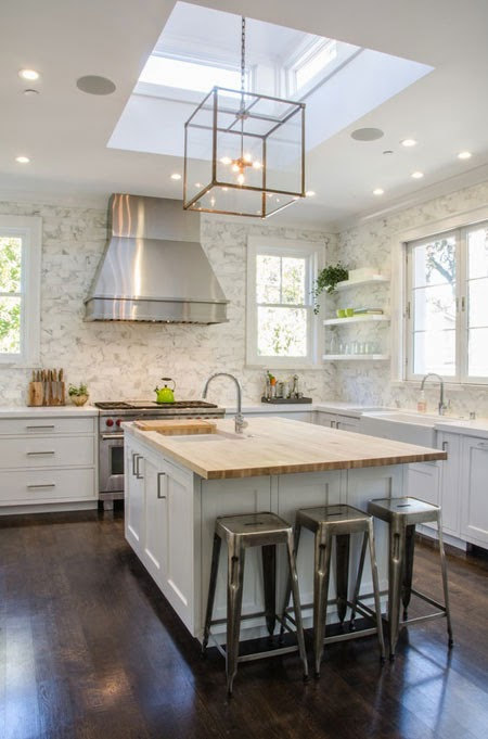 The houston house lantern pendant lighting for Kitchen island houston