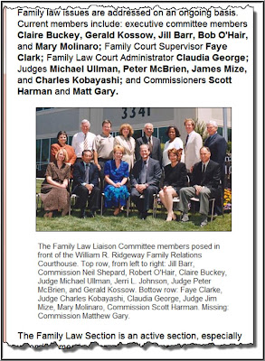 Family Court Sacramento - Sacramento County Bar Association – Family Law Section – Executive Committee – divorce - FLEC – Chair Russell Carlson – Carlson and Gevelinger – alimony - Vice Chair Elaine Van Beveren – Attorney at Law – Sacramento Collaborative Practice Group – spousal support - Treasurer Fredrick Rick Cohen – Law Offices of Fredrick S. Cohen – child custody - Secretary Paula D. Salinger – Woodruff, O'Hair, Posner and Salinger,