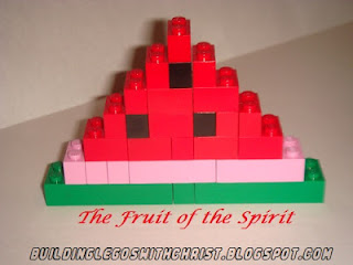 LEGO Watermelon, LEGO Fruit, The Fruit of the Spirit, Galations 5:22-23
