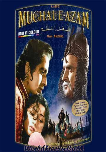 Poster Of Hindi Movie Mughal E Azam (1960) Free Download Full New Hindi Movie Watch Online At worldfree4u.com