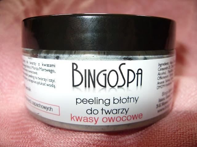 Recenzja: Peeling błotny do twarzy z kwasami owocowymi AHA, BingoSpa