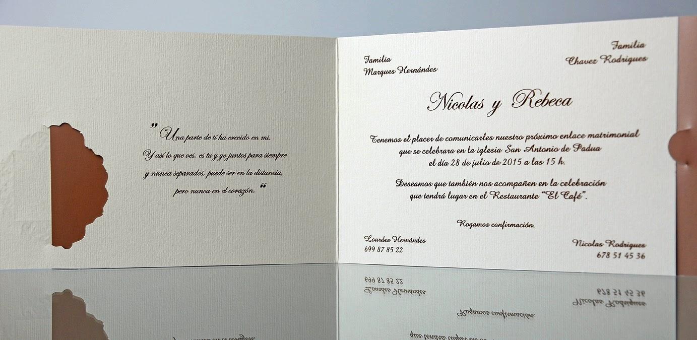 INVITACION DE BODA 34915 CARDNOVEL