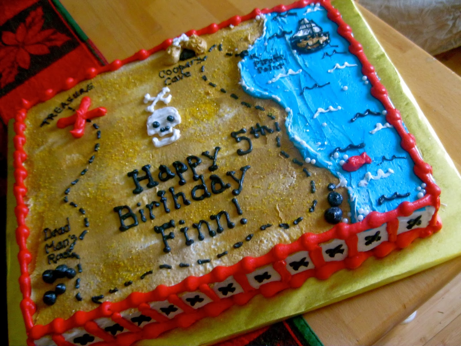 Adirondack Baker Treasure Map Cake For Finns 5th Birthday