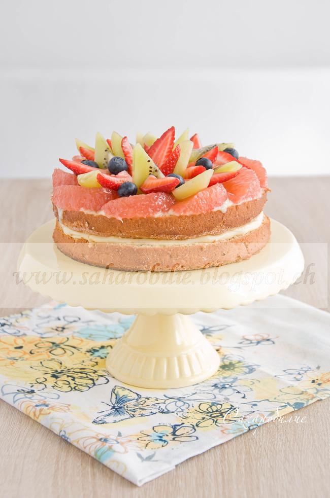 бисквитный торт легкий диетический рецепт