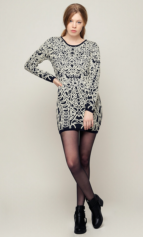 Gold Thread Baroque Knit dress