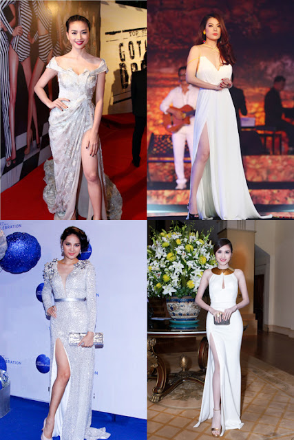 Nhận thấy được hiệu quả của những chiếc váy xẻ cao, nhiều mỹ nhân nổi tiếng như: Trương Ngọc Ánh, Ngô Thanh Vân, Hương Giang, Diễm Hương