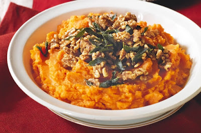 Sweet potato mash with burnt sage butter & walnuts Recipe