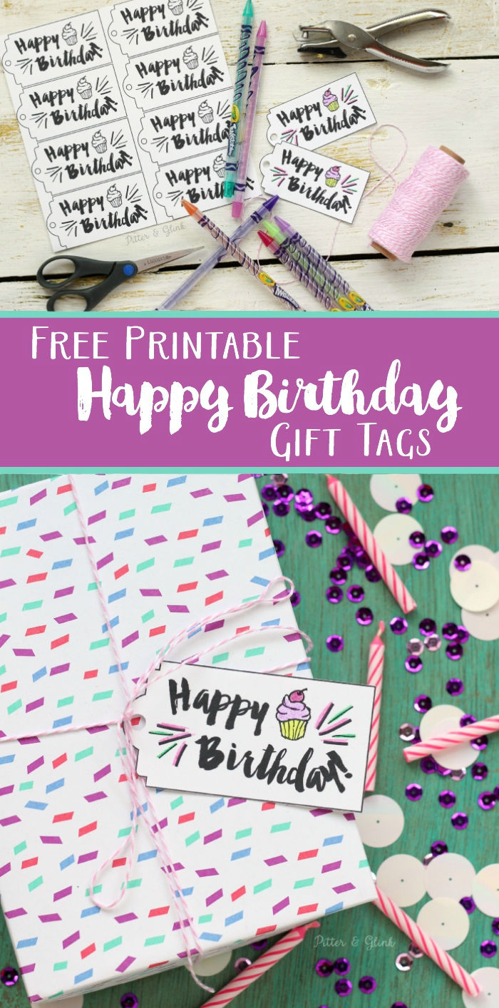 Influential image within free printable birthday tag
