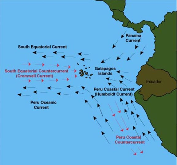 Galapagos Island Geography And Geology Part Three Ocean - Map where is the galapagos islands relative to the us
