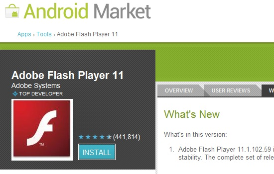 best flash player for android tablet