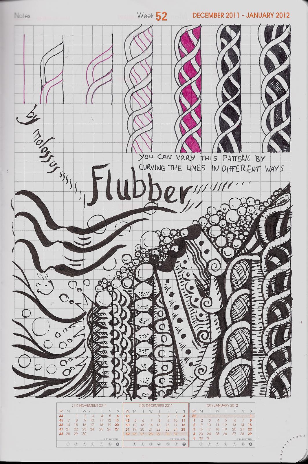 My Tangle Pattern Flubber