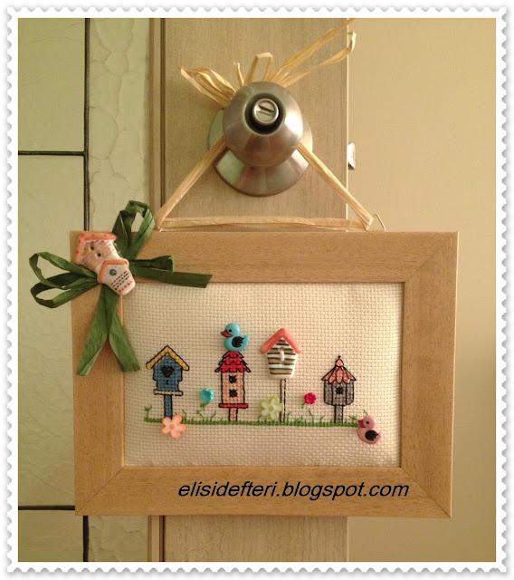 dekoratif düğmeli etamin