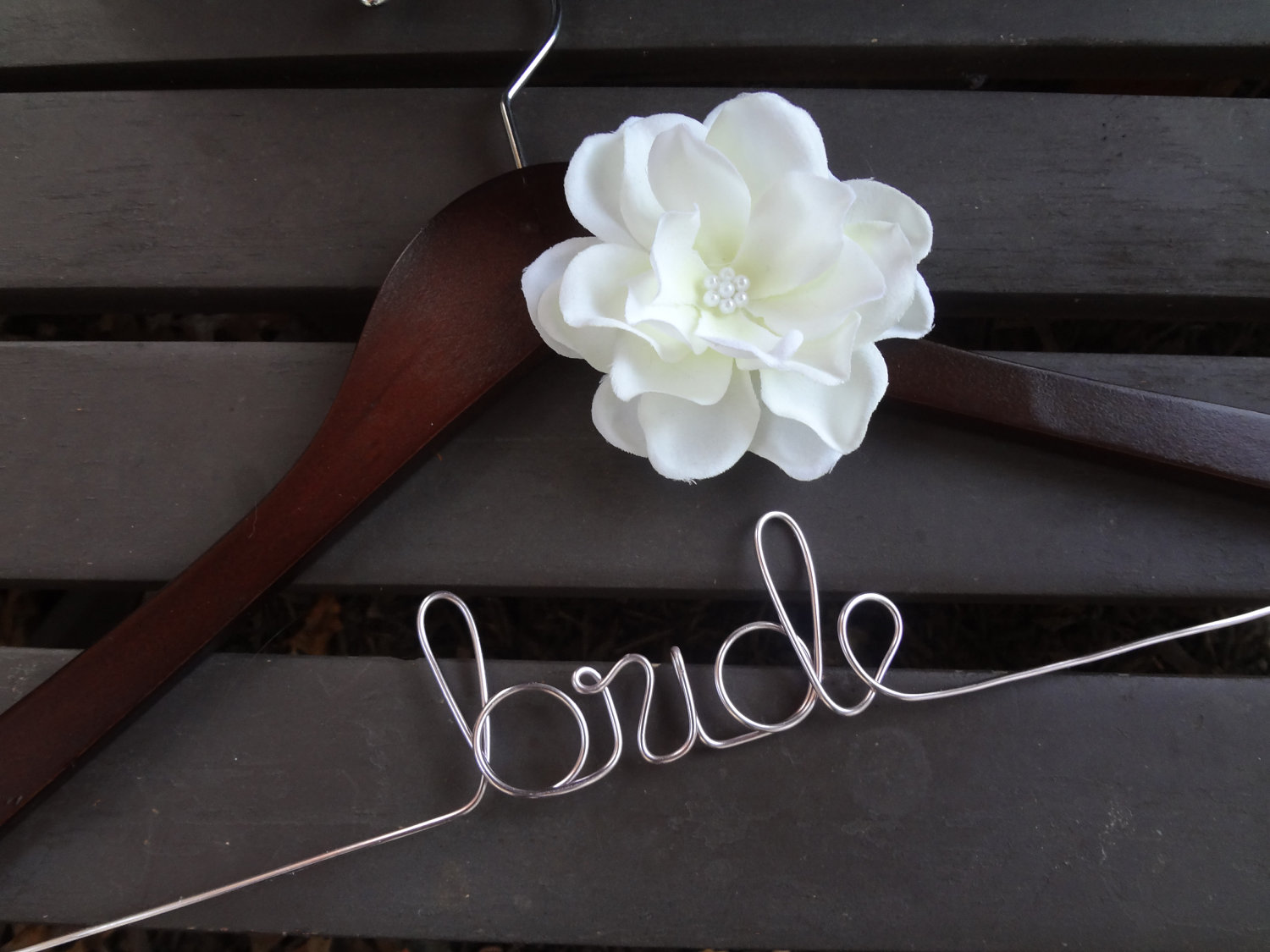 Sonal j shah event consultants llc bridal hangers for Wedding dress hangers with name