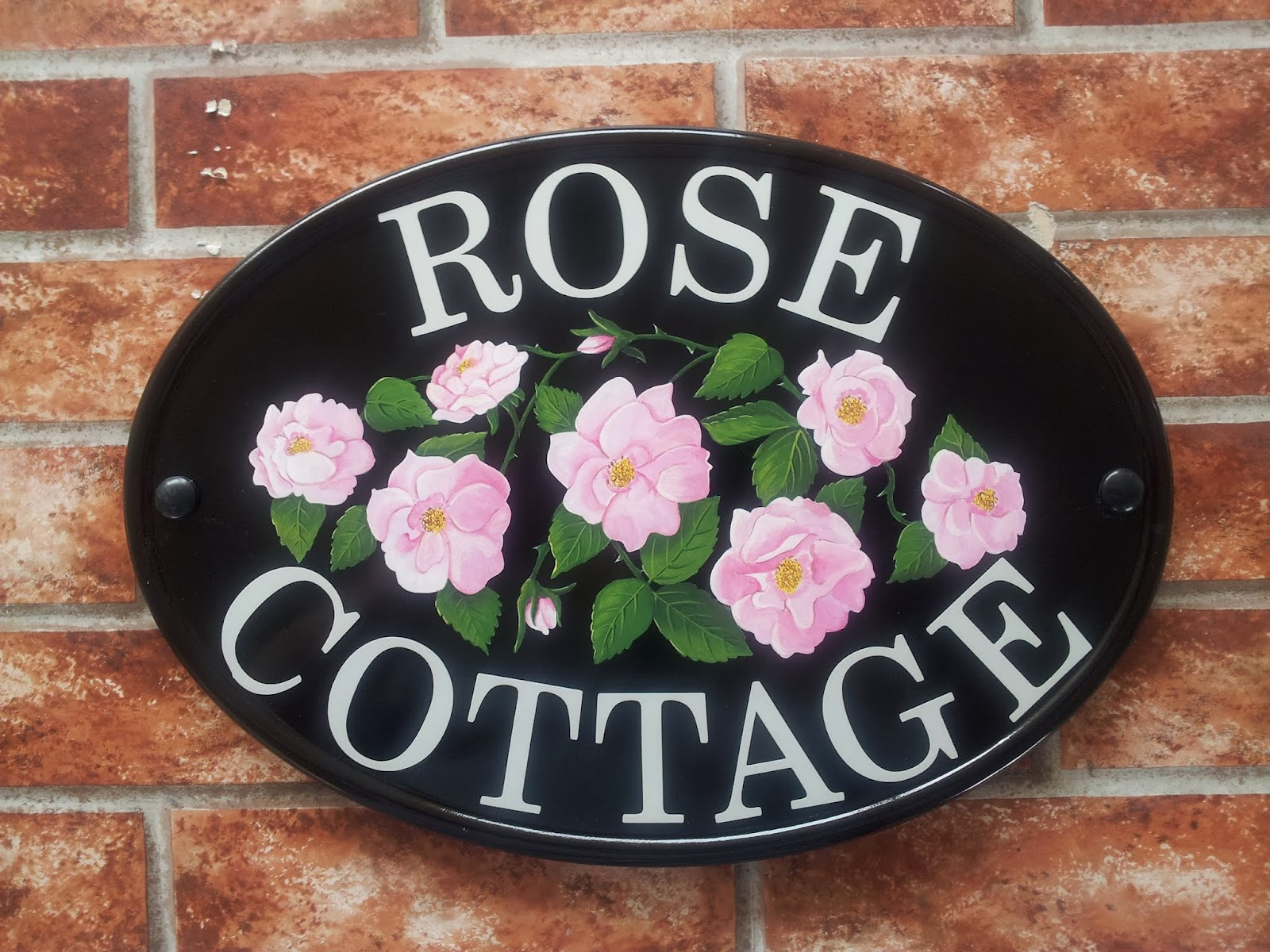 Pictorial house signs from yoursigns ltd for Rose cottage
