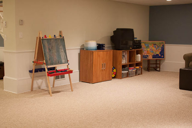 basement playroom remodel