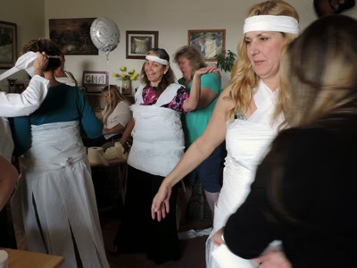 The Toilet Paper Wedding Gown Game.