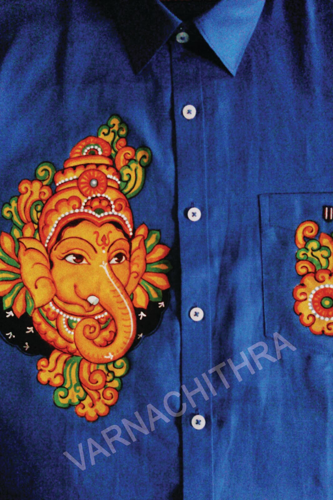 Varnachithra sarees shirts for Aithihya mural painting fabrics