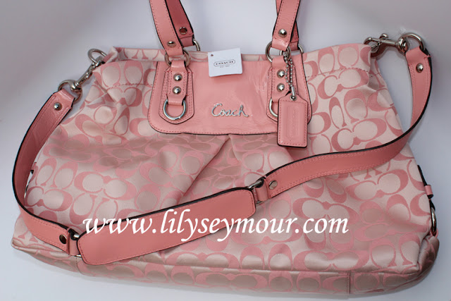 Coach Signature Pink Handbag