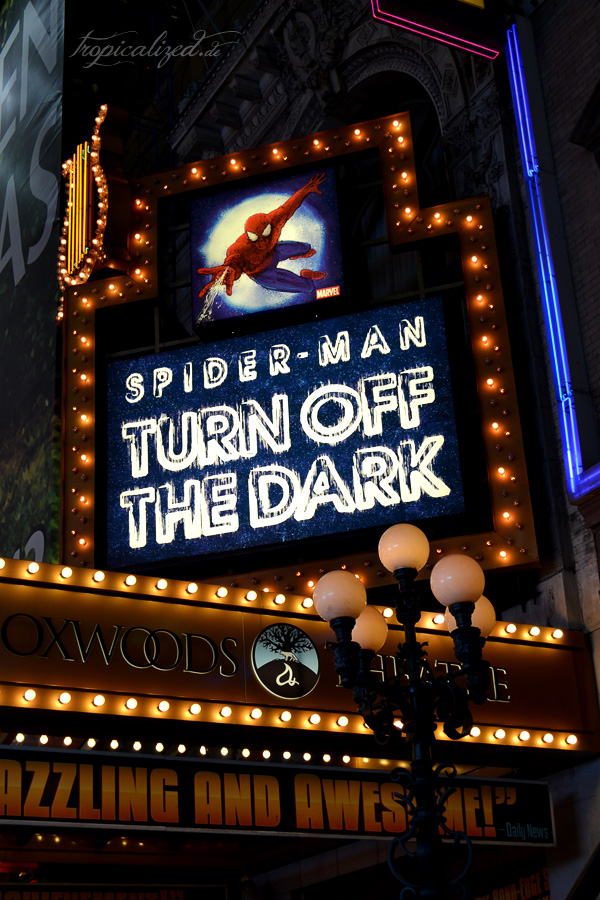 New York November 2012 Spider-Man Musical Broadway
