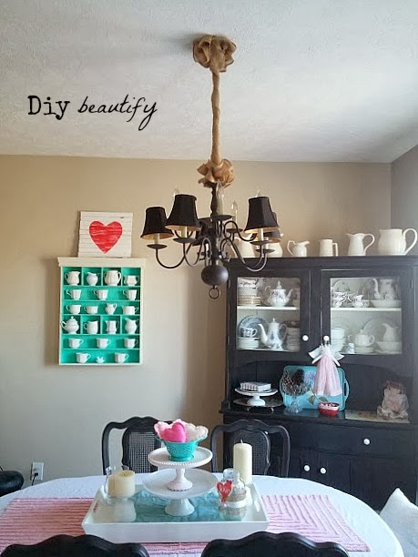 Cover Your Chandelier Cords with Burlap | DIY beautify