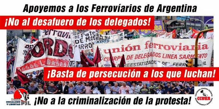 Apoyemos a los Ferroviarios de Argentina